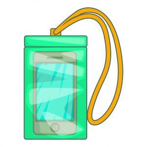 Phone in a zip lock bag